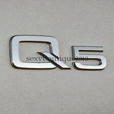 US Local Delivery Fits AUDI Q5 Logo Emblem Badge Silver Chrome Rear High Quality