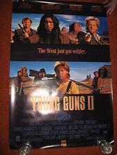 YOUNG GUNS 2 MOVIE POSTER >1990 ROLLED > Emilio Estevez western