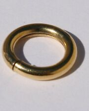 14K GOLD FILLED LARGE  CIRCLE CLASP CONNECTOR RING OR BAIL FOR CHAINS PENDENTS