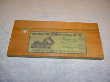Repro Stanley 45 Cutter Box & Label types 7-11 ,1907-11