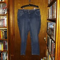 Riders by Lee Stretch Blue Denim Jeans  - Size 18W