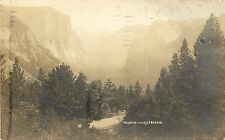 RPPC Postcard Yosemite Valley CA Boysen Photo 1925