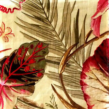 Cowtan and Tout Palmier Union Linen France New Remnant Rose Olive Ivory