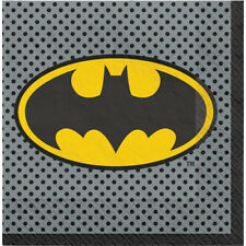 JUSTICE LEAGUE Heroes Unite BATMAN LUNCH NAPKINS (16) ~Birthday Party Supplies