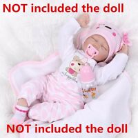 "22"" Reborn Baby Girl Doll Clothes Newborn Clothing Sets (Not Included Doll)"
