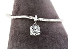 Cute Owl Charm for Bracelet or Necklace Delicate Silver Jewellery