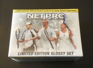 2003 Netpro Glossy SET. SEALED. Only 5000 Made. FEDERER, NADAL, SERENA RCs