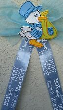 MOM TO BE Baby Shower Corsage, Award Ribbon,Favors,mommy, sash,blue,Announcement
