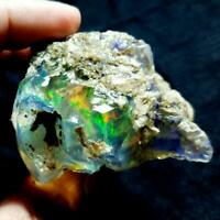 SEE VIDEO 511 Cts NATURAL AAA+WELO FIRE ETHIOPIAN OPAL ROUGH(67x56x41MM)Z122