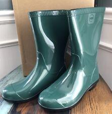 UGG Kids Girls Size 3 Raana Rubber Rain Boots Waterproof Green Youth