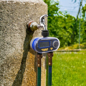 Dual Water Outlets Garden Watering Tap Faucet Timer for Lawn Farmland 0.5 PSI