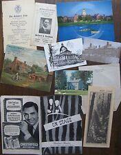 Paper: Arlington Ma. Postcard,1922 Davidson for Rep, Harvard record-postcard,etc