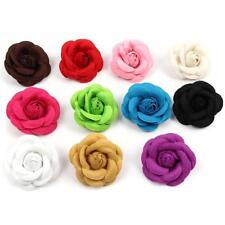 Womens Camellia Flower Pin Brooches Craft Party Cloth Jewelry Accessories W
