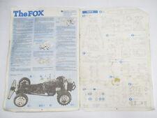 Original Vintage Tamiya 1/10 Fox Instruction Manual Book (Damaged) OZ RC Models