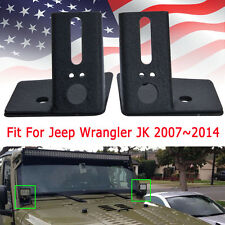 2x Car Mounting Brackets Windshield For Jeep Wrangler 2007~2014 JK LED Light Bar