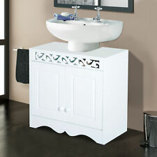Under Sink Cabinet Storage Unit Cupboard Bathroom Double Door Shelf