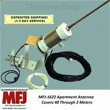 MFJ 1622 Apartment Antenna 40 - 10 Meters on HF and 6 and 2 Meters on VHF& Mount