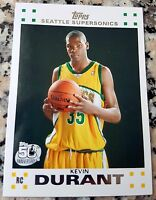 KEVIN DURANT 2007 Topps Rookie Card RC MVP Golden State Warriors 2017 Champions