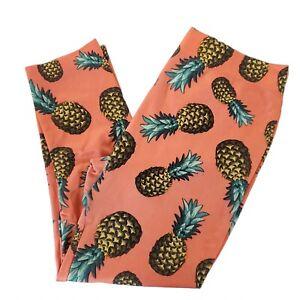 No Boundaries Leggings High Rise Work Out Capri Pants Size L(11-13) Pineapples