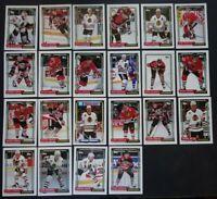 1992-93 Topps Chicago Blackhawks Team Set of 22 Hockey Cards