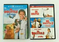 Lot Of 3 Dr. Dolittle DVDs Set (2008) 1 2 3 Tail To The Chief - 4 Movies