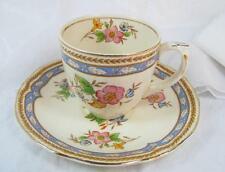Vintage GRINDLEY ENGLAND CREAMPETAL DEMITASSE CUP and SAUCER Ivory gold edged