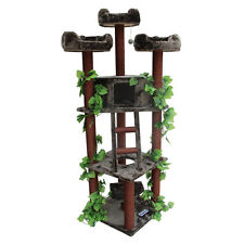 Cat Tree For Large Cats Condo Ladder Scratching Post Scratcher Toy Tall Faux Fur