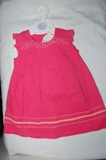 M&S Pink Sleeveless Dress and Pants Set 100% Cotton Age 3-6 Months BNWT