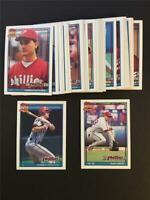 1991 Topps Philadelphia Phillies Team Set With Traded 33 Cards