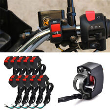10pcs Black Motorcycle Handlebar Switch Red On / Off Button 12V ATV Bike 22-25mm