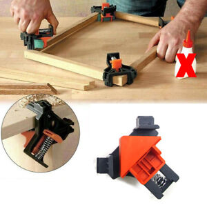 1SET 90° Right Angle Corner Clamp Clip Fixer Ruler Clamp Woodworking Hand Tool