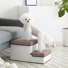 Pet steps Folding Dog Cat Stairs Two Storage Compartments Boxes
