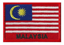 Patch écusson patche drapeau Malaisie Malaysia 70 x 45 mm thermocollant