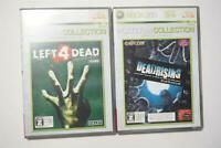 Xbox 360 Dead Rising + Left 4 Dead Japan Microsoft games US Seller