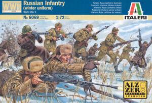 Italeri 1/72 WWII Russian Infantry Winter Uniform # 6069