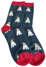 Socks Fox Terrier Dog Ladies Navy Blue Red New Without Tags Cute Dogs