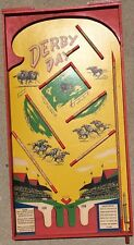 "Antique/Vintage Derby Day Pinball Machine Board.Very Rare.31""X16"""