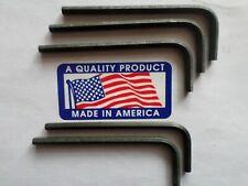 Allen 57122 3mm Short Arm Hex Key Wrench 5pcs. USA