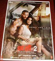 BAAGHI 2 (2018) Tiger Shroff Disha Patani Bollywood Poster #  2