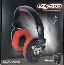 DJ TECH - edj-500 - DJ Chris Garcia professionelle Kopfhörer - rot