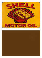 1:24 1:25 SCALE SHELL GAS STATION WEATHERED METAL SIGN GARAGE DIORAMA LAYOUT 26