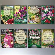 Gartenarbeit inspiration motivation zitate sommer garten kühlschrankmagneten