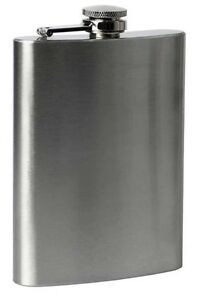 STAINLESS STEEL 8oz HIP FLASK NEW HIGH QUALITY PORTABLE GIFT FREE UK PP