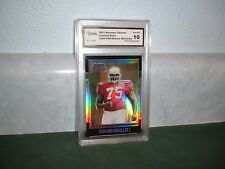 LEONARD DAVIS 2001 BOWMAN CHROME REFRACTOR #/1999 GRADED GEM MINT 10