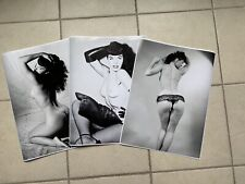 Bettie Page 3 Pack poster B&W 18X24  NEW