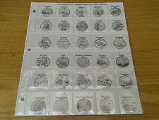 CLASSIC MEDAGLIA Album pagine per OLYMPIC 50P MEDAGLIA Collections