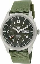 Seiko 5 Sports SNZG09K1  Military Style Khaki Green Mens Watch SNZG09K RRP £199