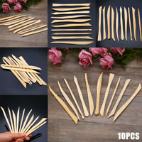 10pcs Wood Wooden Clay Modeling Tools Set Polymer Clay Sculpting DIY Craft Set