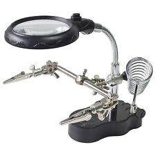 HELPING HAND MAGNIFIER SET AND SOLDERING STAND TOOL WITH LED LIGHT S2885