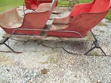 Horse Drawn Carriage Buggy Double seat Sleigh Wagon
